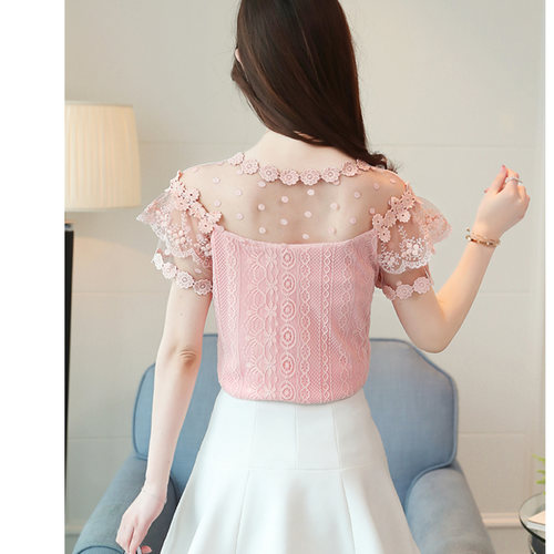 Peach Designer Lace Top