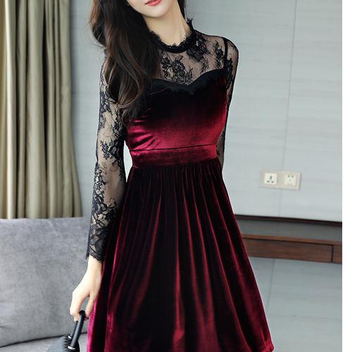 Velvet Short Winter Dress