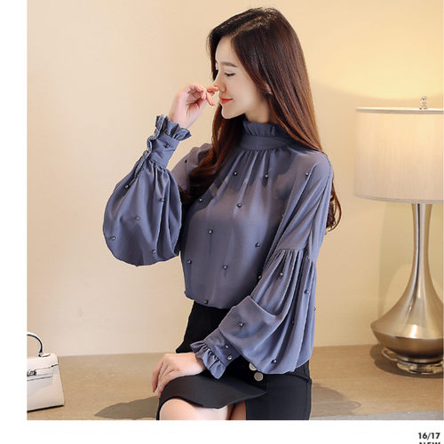 Designer Pearl Long Sleeve Top
