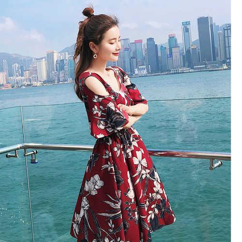 Boho Off Shoulder Floral Dress