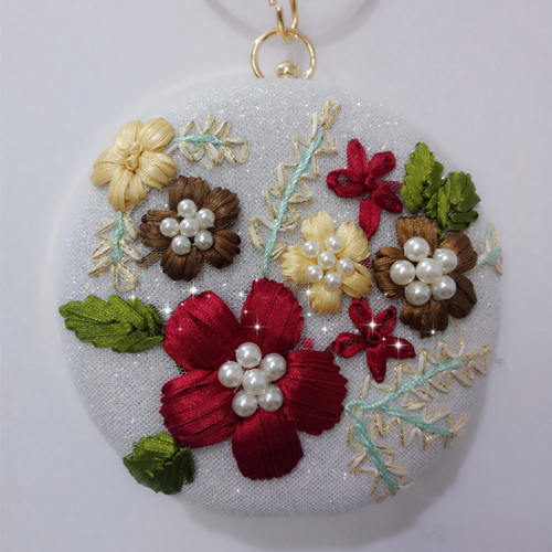 Round Floral Clutch
