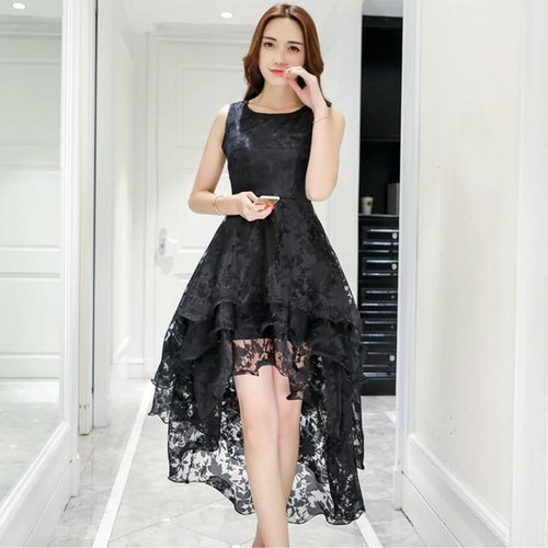Organza Hi-Low Party Wear Dress.