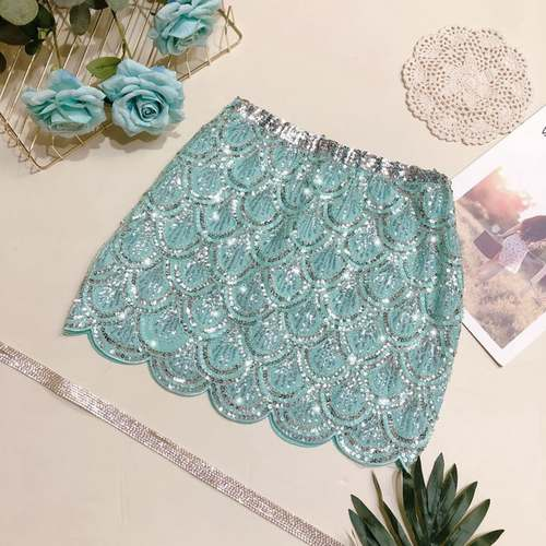 Sequin Work Party Wear Skirt