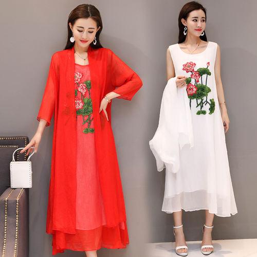 Cotton Linen Tunic With Shrug