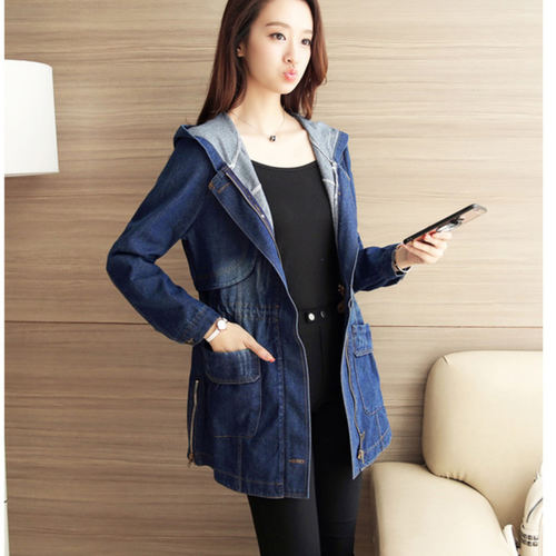 Long Denim Spring-Autumn Jacket