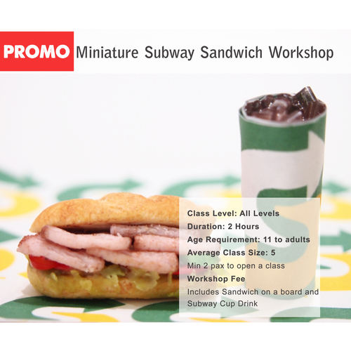 DEALS - Miniature Subway Set Workshop for 2 pax