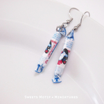 Food Jewelry-white rabbit sweet earrings