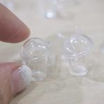 Miniature Cups- 10 Dollhouse Bubble Tea cups