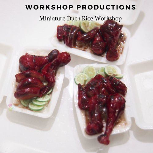 Miniature Food Crafting Workshop - Clay Duck Rice