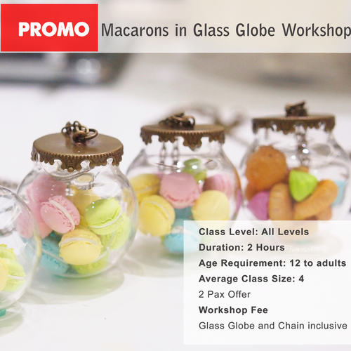 DEALS for 2 pax - Macaron or Icedgems In Glass Globe Workshop