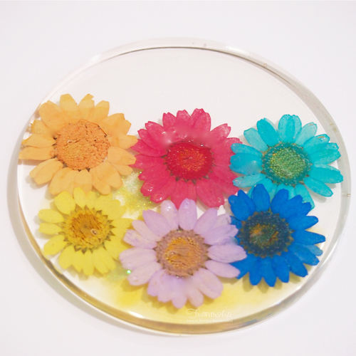 Pressed Flowers Resin Coaster