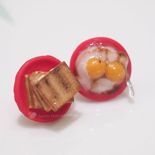 Miniature food Workshop-Kaya Toast and Egg Jewelry