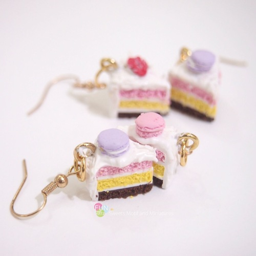 2 Hours Beginner Miniature Cake Earrings Workshop for 2 pax