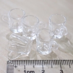 Miniatures - 10 Plastic Coffee Tea Cup for Dollhouse Display