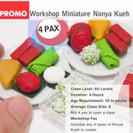 DEALS for 4 pax - Miniature Food Workshop - Nonya Kueh Plate