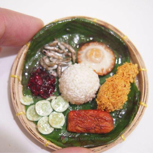 polymerclay nasi lemak-polymerclay food