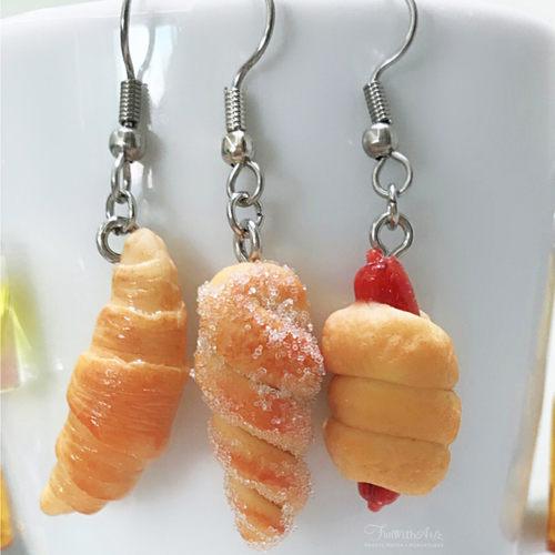 Miniature Food-Bread or Dangle Earrings