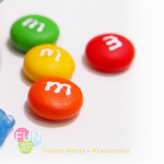 Food Jewelry-Clay Jewelry-M&M earring stud