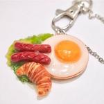 Keychain-Breakfast Egg Set