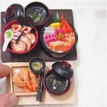 Dollhouse Display Miniature Food Chirashi Don Set