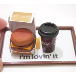 Miniature Food Set- Double cheese burger Meal - Macdonald