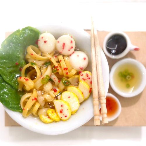 Workshop - Miniature Food Sculpting Fishball Noodle Bowl
