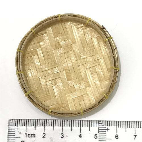 Dollhouse Rattan Tray for Miniature Food