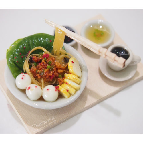 Buy Handmade Miniature Fishball Noodle Set Display