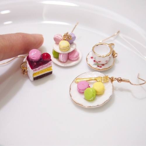 Jewelry - Macarons, Cake and Cups Set Earrings