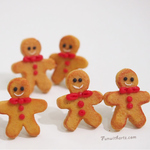 Jewelry- Christmas Gingerbread Man Earrings