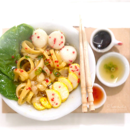 Miniature Food Workshop -Fishball Noodle Set