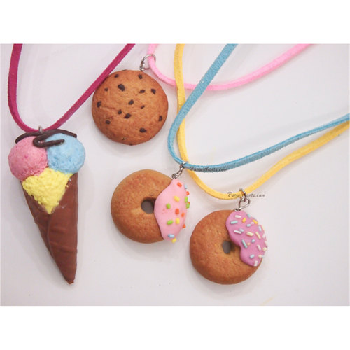 Donut/Cookie Necklace/Charms/Keyrings