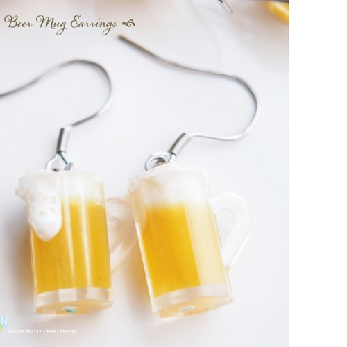 Jewelry - Beer Muggy Dangle Earrings