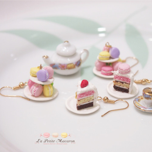 Miniature Food Jewelry- Cake Sliced Earrings