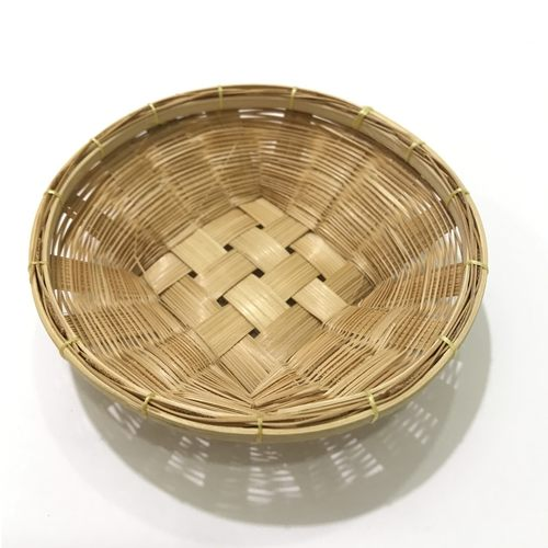 Dollhouse Rattan Basket Tray