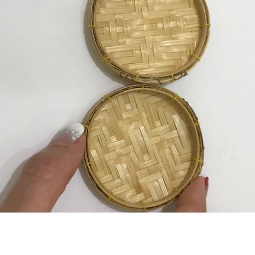 Dollhouse Rattan Tray for Miniature Food