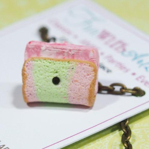 Jewelry - Ice Cream Keychain / Necklace / Earrings Dangle