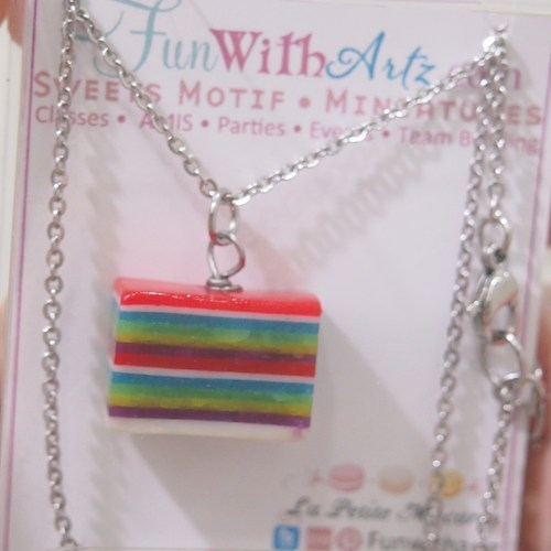 Rainbow Cake-Kueh Lapis Necklace