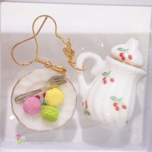 Food Jewelry-Clay Accessories-Macaron Earrings-Funwithartz