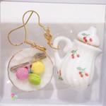 Jewelry - Miniature Macaron with Pot Dangle Earrings