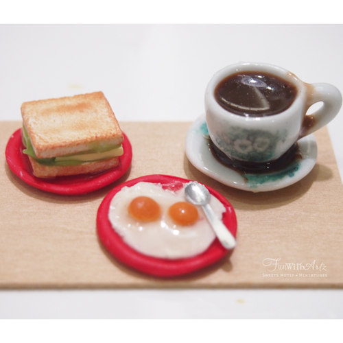 DEALS - Miniature Food Workshop - Kaya Toast & Coffee Set