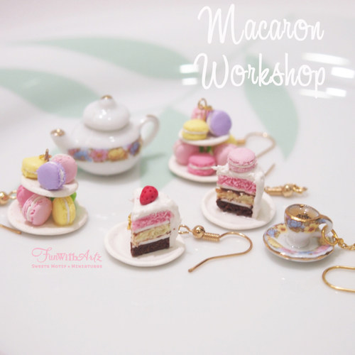 Miniature Food Workshop - Sweet Pastries Jewelries
