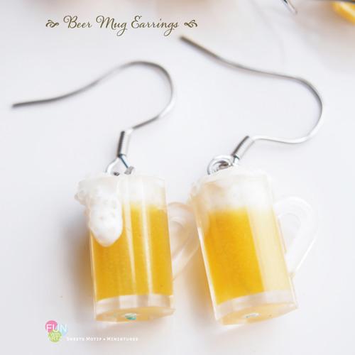 Jewelry - Beer Muggy Dangle Earrings