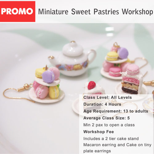 DEALS for 2 pax - Miniature Food Workshop - Sweet pastries workshop