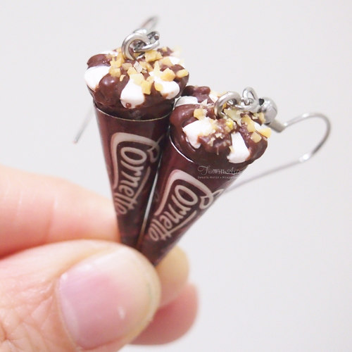 Cornetto Ice Cream Earrings