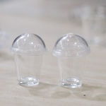 Dollhouse Miniature Cups-Bubble Tea cups