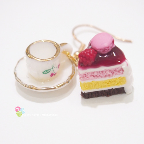 Jewelry - Cake and Cup Set Earrings