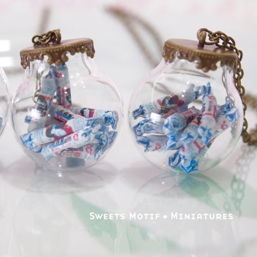 Food Jewelry -White Rabbit Sweet Globe Necklace