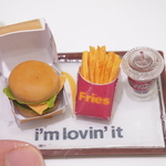 Workshop food workshop -Miniature Clay Burger Set