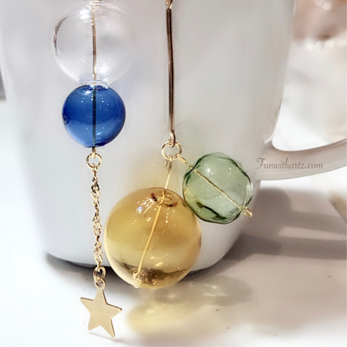 Glass Balls Limbo Dangle Earrings